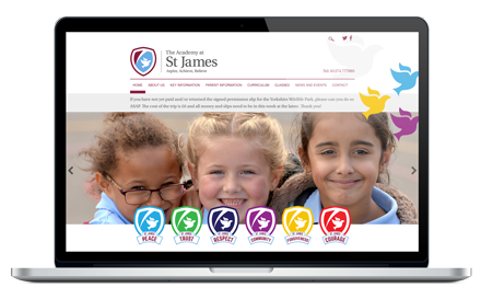 Academy at St James website